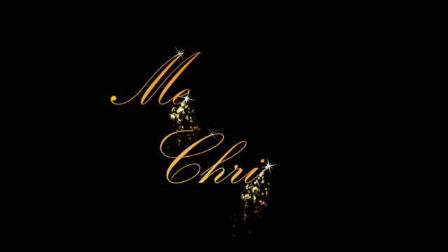 vídeos y material grabado en eventos de stock de feliz texto de navidad con gráfico de movimiento brillante sobre el fondo de la estrella animada - texto