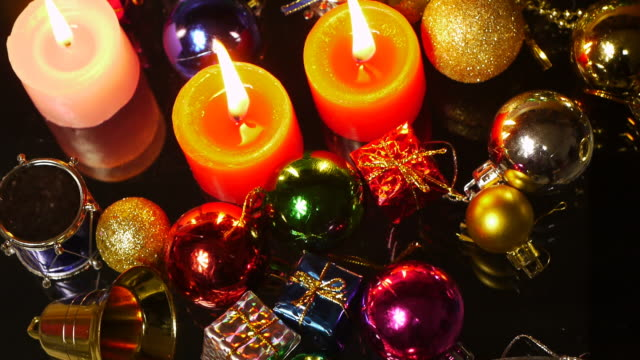 merry christmas - christmas decore candle stock videos & royalty-free footage