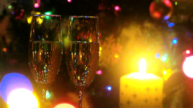 merry christmas - champagne flute stock videos & royalty-free footage