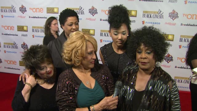 merry clayton on background singers at bfca celebration of black cinema west hollywood, ca january 7, 2014 - ブロードキャスト映画批評家協会点の映像素材/bロール