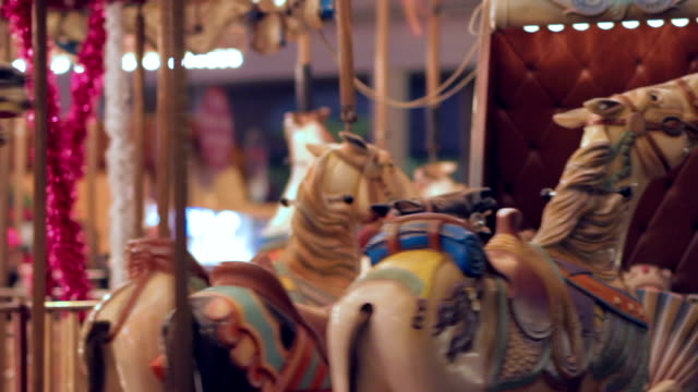 merry go round close-up - carousel horse stock videos and b-roll footage