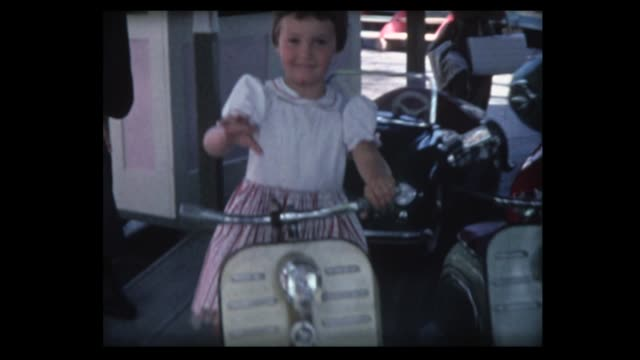 1962 merry go round with cars and ufos - roundabout stock videos & royalty-free footage