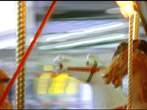 sd merry-go-round close up of horse - djurkroppsdel bildbanksvideor och videomaterial från bakom kulisserna