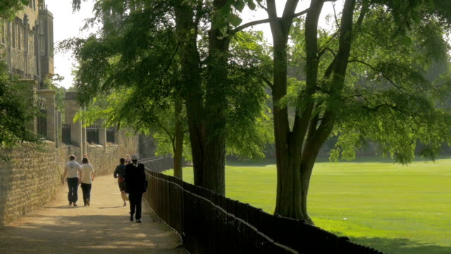 merton college, walkway,ms - oxford england video stock e b–roll