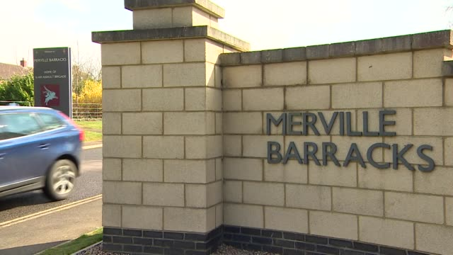 merville barracks at colchester garrison where the parachute regiment that did target practice on a picture of jeremy corbyn are based - barracks stock videos & royalty-free footage