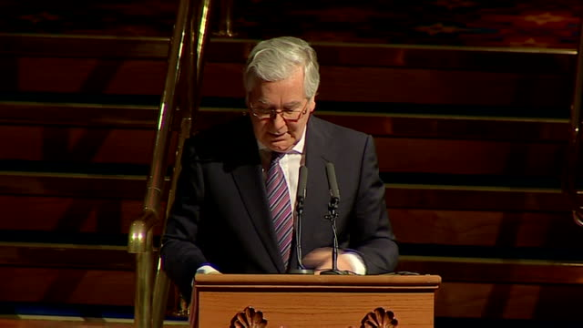mervyn king speech at cbi dinner in belfast northern ireland belfast int sir mervyn king speech sot the continuation of the zigzag pattern of growth... - zigzag stock videos & royalty-free footage