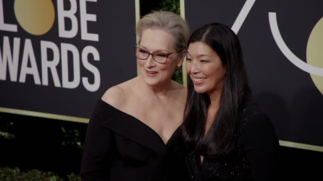 Meryl Streep and Aijen Poo at the 75th Annual Golden Globe Awards at The Beverly Hilton Hotel on January 07 2018 in Beverly Hills California
