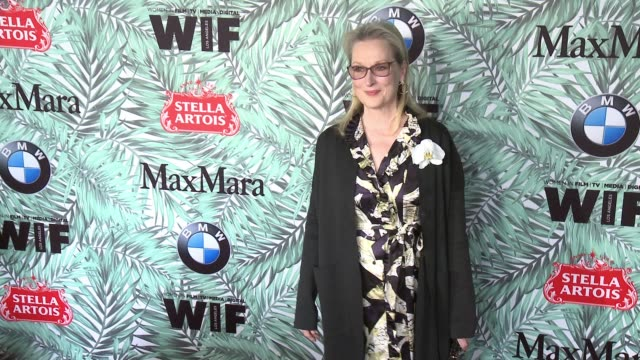meryl streep at 10th annual women in film pre-oscar cocktail party presented by max mara and bmw at nightingale plaza on february 24, 2017 in los... - nightingale stock videos & royalty-free footage