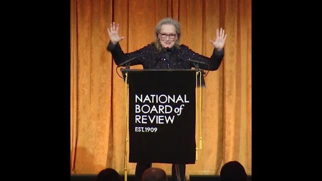 GIF Meryl Streep at 2018 National Board Of Review Awards Gala