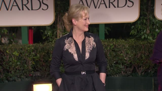 Meryl Streep at 69th Annual Golden Globe Awards Arrivals on January 15 2012 in Beverly Hills California
