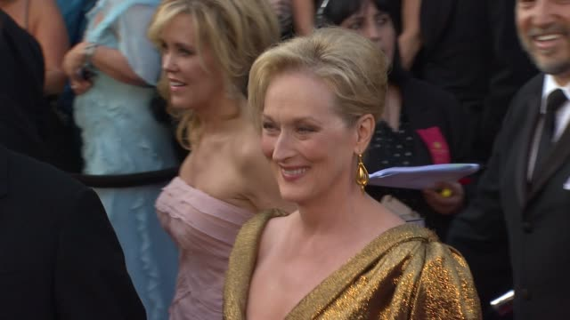 meryl streep at 84th annual academy awards - arrivals on 2/26/12 in hollywood, ca. - academy awards video stock e b–roll