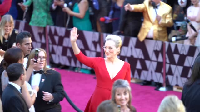 meryl streep at dolby theatre on march 04 2018 in hollywood california - academy awards stock videos & royalty-free footage