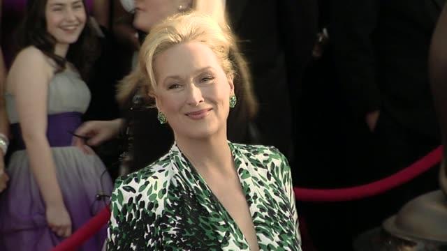 meryl streep at the 16th annual screen actors guild awards - arrivals at los angeles ca. - メリル・ストリープ点の映像素材/bロール