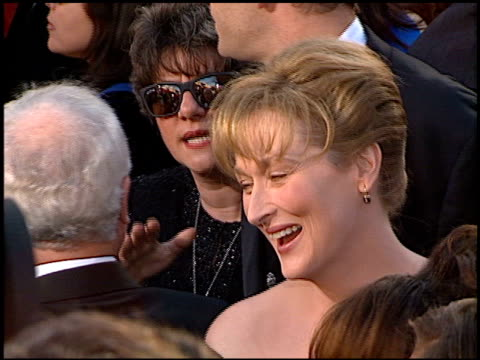meryl streep at the 1996 academy awards arrivals at the shrine auditorium in los angeles california on march 25 1996 - 1996 stock videos & royalty-free footage