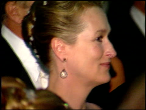 meryl streep at the 1999 academy awards governor's ball at the shrine auditorium in los angeles, california on march 21, 1999. - 71st annual academy awards stock videos & royalty-free footage
