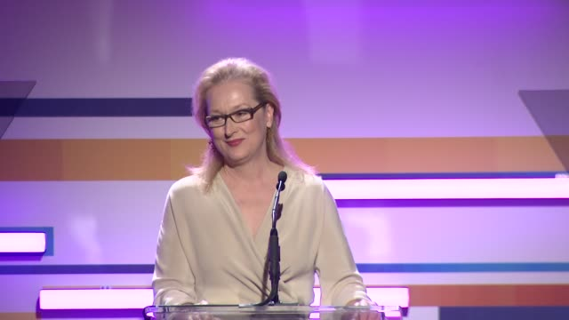 meryl streep at the 2012 women in film crystal lucy awards speech meryl streep at the 2012 women in film cry at the beverly hilton hotel on june 12... - the beverly hilton hotel stock videos & royalty-free footage