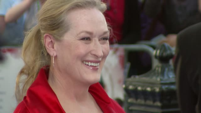 meryl streep at the mamma mia premiere at london - mamma mia stock videos and b-roll footage