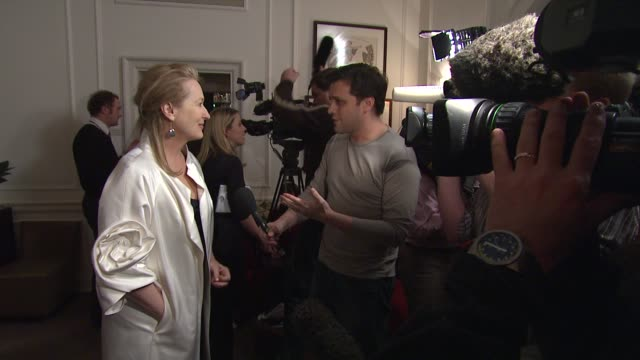 meryl streep at the uk doubt gala screening at london . - 2009 stock videos & royalty-free footage