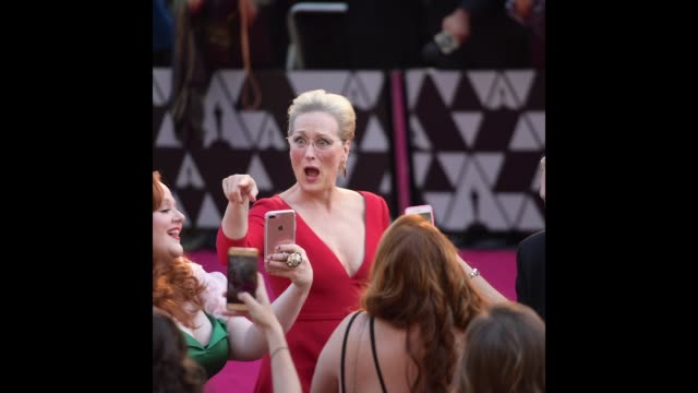 meryl streep attends the 90th annual academy awards at hollywood highland center on march 4 2018 in hollywood california - academy awards stock videos & royalty-free footage
