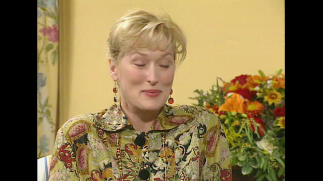 meryl streep comments on the film industry saying 'i hope to be in it a little while longer' - roseanne barr stock videos & royalty-free footage