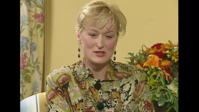 meryl streep describes actors as 'foolish creatures' - acting performance stock videos and b-roll footage