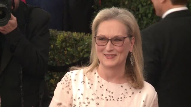 vídeos de stock, filmes e b-roll de meryl streep is nominated for best actress for her role in florence foster jenkins at this year's academy awards - meryl streep