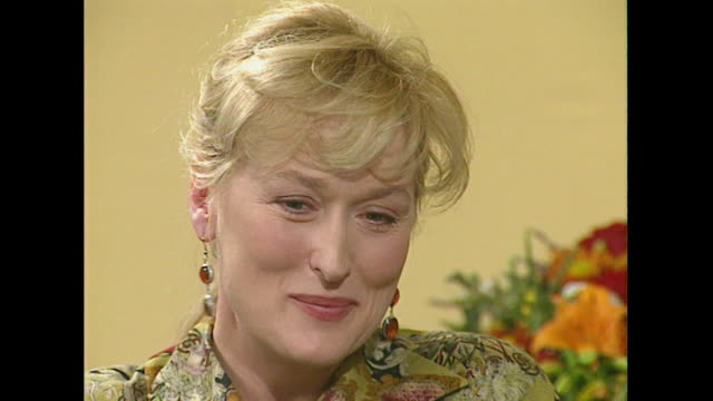 meryl streep on being able to separate herself from her film roles - roseanne barr stock videos & royalty-free footage
