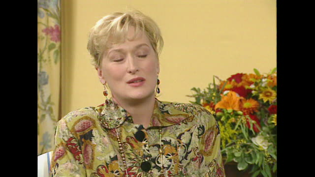 meryl streep on bruce willis wanting to be cast in the film death becomes her - roseanne barr stock videos & royalty-free footage