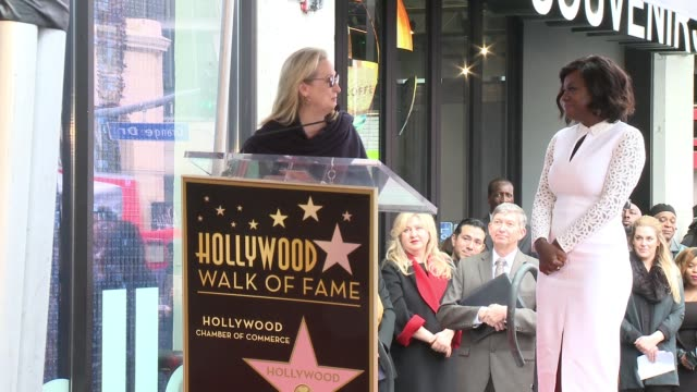 SPEECH Meryl Streep on Viola Davis' success and receiving a star at the Viola Davis Honored With Star On The Hollywood Walk Of Fame at Hollywood Walk...