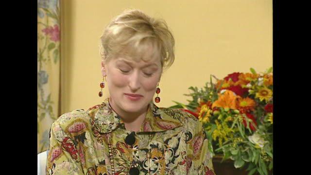 meryl streep on why she took the role in the film death becomes her - メリル・ストリープ点の映像素材/bロール