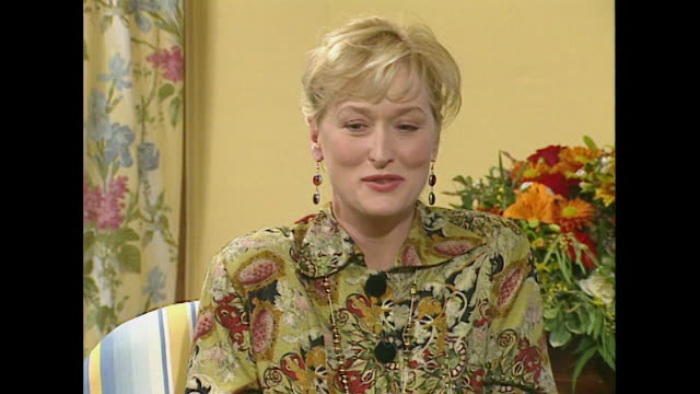 meryl streep talks about the audition process saying 'the image you present when you walk in the door is often defining' - roseanne barr stock videos & royalty-free footage
