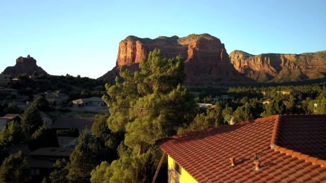 Mesa Rock Formation Flight at Sunset