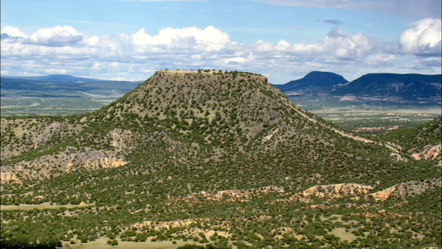 mesa tinaja  - aerial view - new mexico, catron county, united states - mesa stock videos and b-roll footage