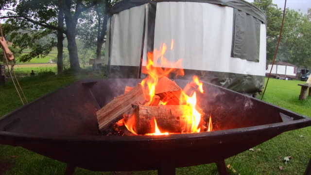 mesmerising campfire - push in stock videos & royalty-free footage