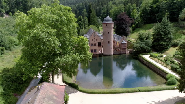 mespelbrunn castle in spessart mountain range - monument stock videos & royalty-free footage