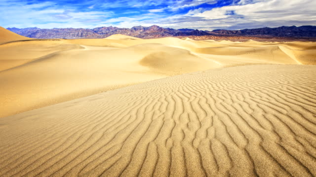 mesquite flat sand dunes in death valley timelapse - death valley national park stock videos & royalty-free footage