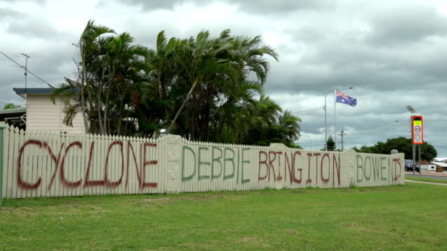 A message of defiance from locals prior to cyclone Debbie hitting northern Australia