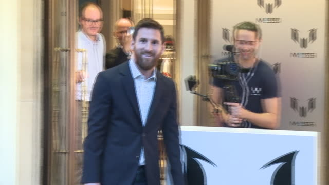 messi attends the opening of his new store in barcelona - lionel messi stock videos and b-roll footage