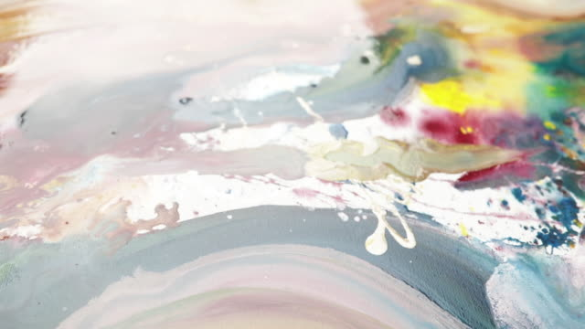 messy painting - freshly painted stock videos & royalty-free footage