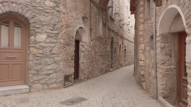 mesta, chios island, greece - greek islands stock videos and b-roll footage