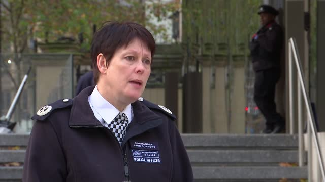 met announce hundreds of weapons seized in crack down on violent crime; england: london: new scotland yard: ext cmdr jane connors interview sot - itv london lunchtime news stock videos & royalty-free footage
