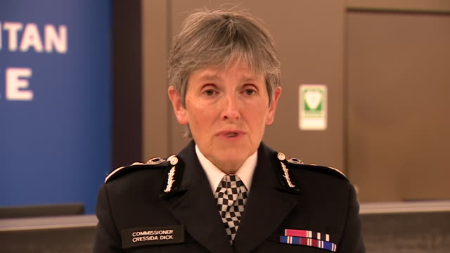 met police commissioner cressida dick paying tribute to the service of sergeant matiu ratana who was shot dead in a custody centre in croydon - crime and murder stock videos & royalty-free footage