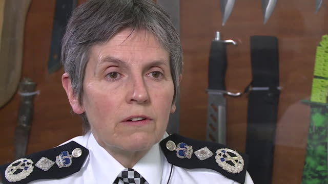 met police commissioner cressida dick saying 'i need to get as many people as i can out on the streets' in the wake of a spike in violent crime in... - knife weapon stock videos & royalty-free footage