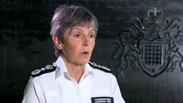 """met police commissioner cressida dick saying it is """"still a matter of huge regret to me"""" that there are """"still people free"""" who were involved in the... - crime and murder stock videos & royalty-free footage"""