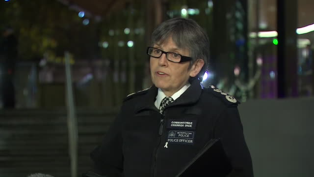 "met police commissioner cressida dick saying ""my heart goes out"" to the victims of the london bridge terror attack - victim stock videos & royalty-free footage"