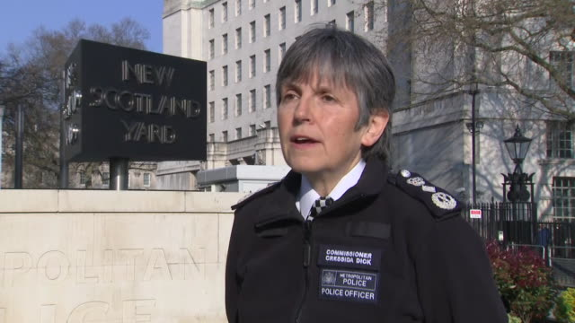 met police commissioner cressida dick saying the vast majority of people are complying with coronavirus lockdown regulations - crisis stock videos & royalty-free footage