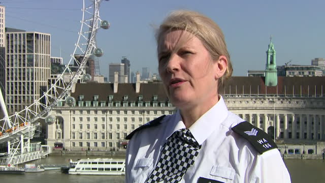met police sergeant imogen hirst talking about abuse she received at the sarah everard vigil in clapham - sergeant stock videos & royalty-free footage