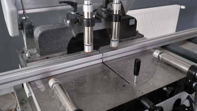 metal and alloy cutter machine, cutting alloy bars. - alloy stock videos & royalty-free footage