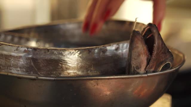 Metal bowls at market in Malta