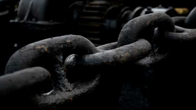 metal chains with engine - chain stock videos & royalty-free footage